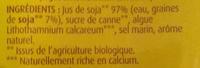 Boisson au soja nature BIO - Ingrédients - fr