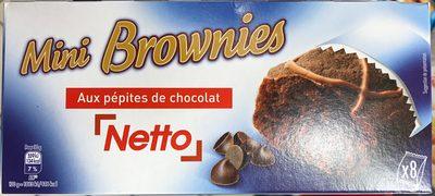 Mini brownies aux pépites de chocolat - Product