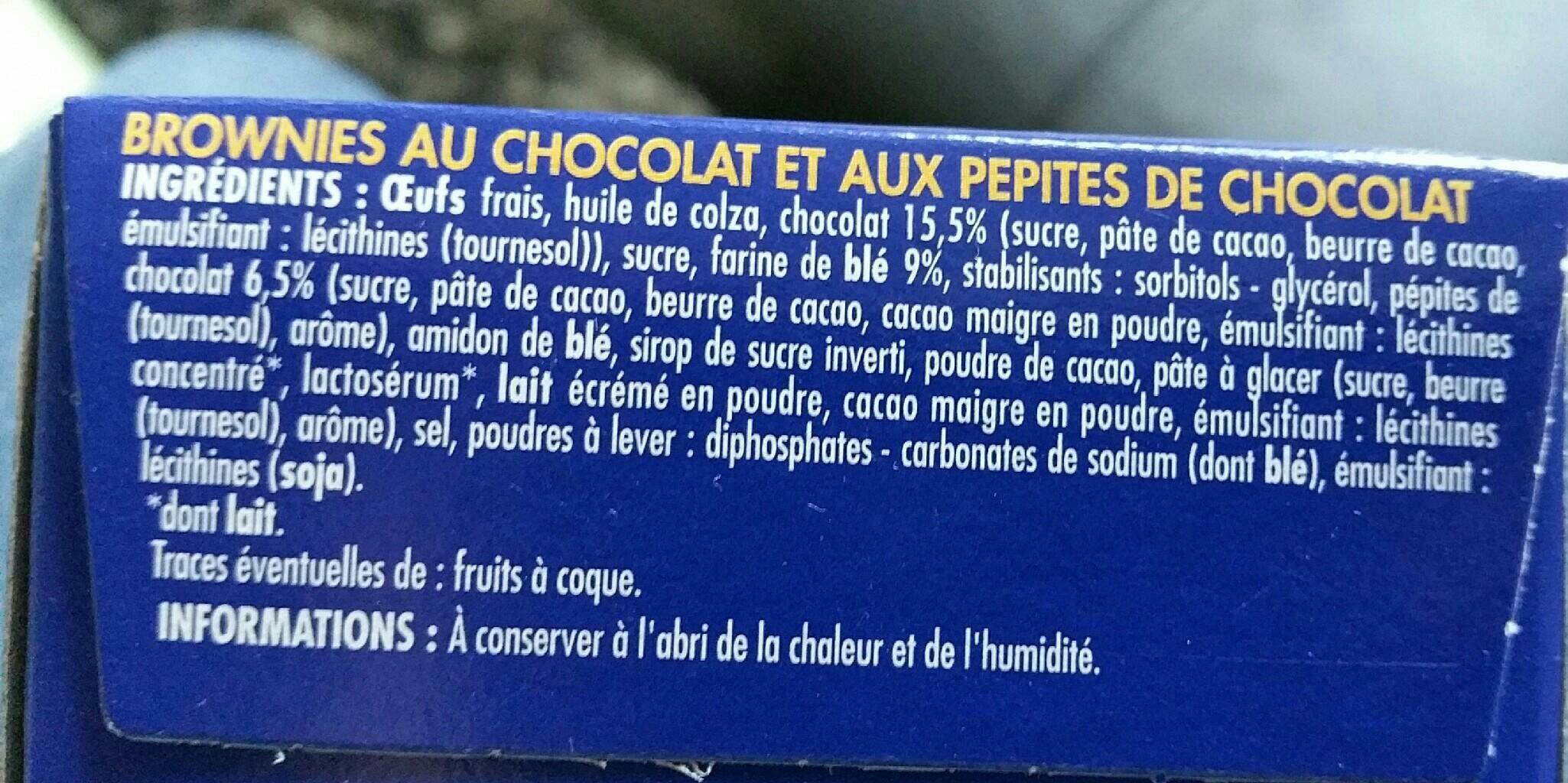 Brownie Pocket Choco Pépites - Ingredients