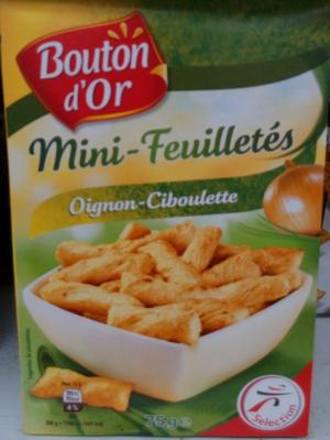 Mini-feuilletés oignon-ciboulette - Produit