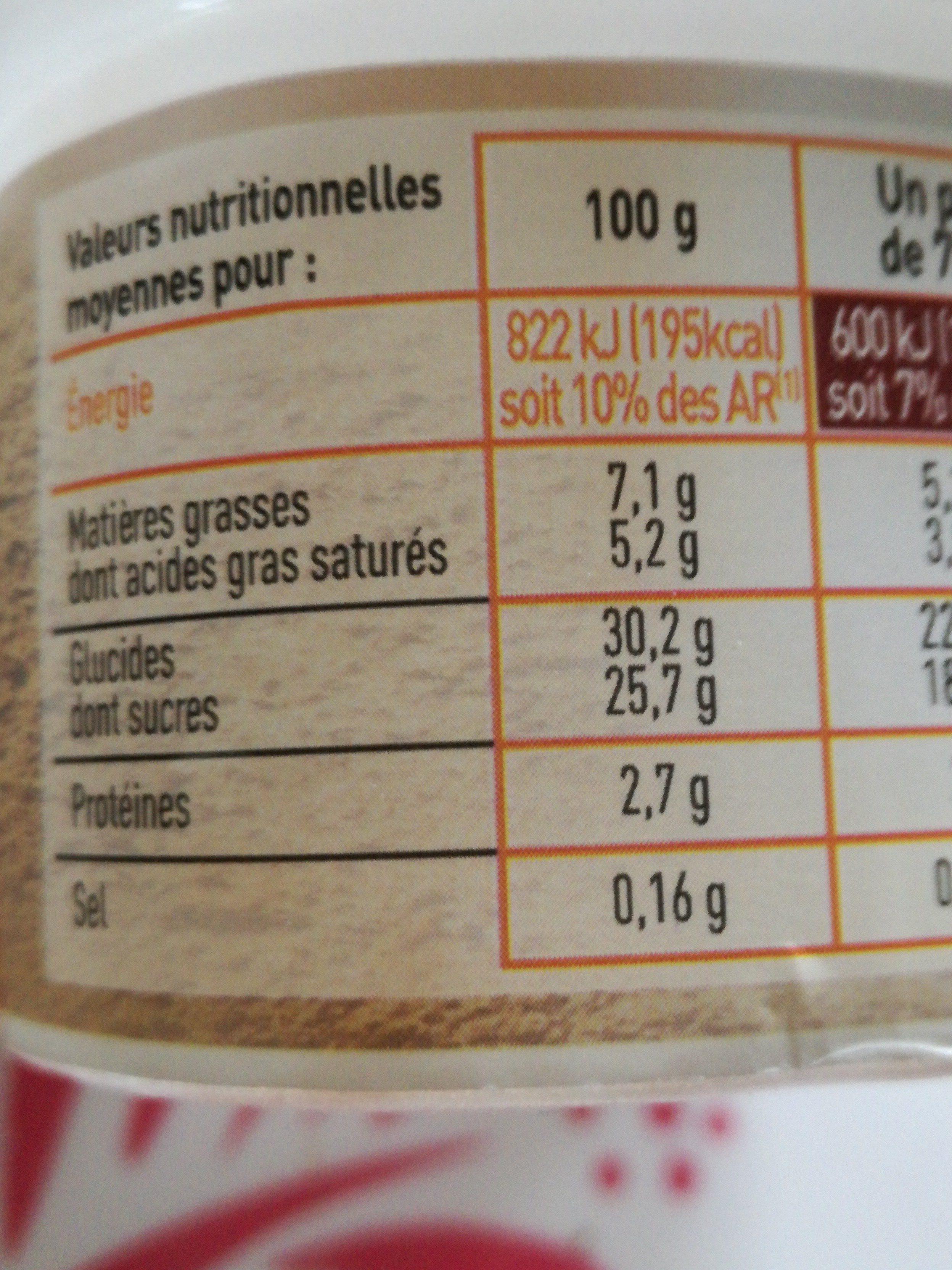 Mousse a la crème de marron - Ingrédients - fr