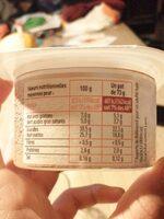 Mousse a la crème de marron - Informations nutritionnelles - fr