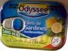 Filets de sardines au citron et au basilic, sans huile - Product