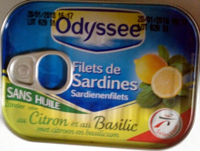Filets de sardines sans huile au citron et au basilic - Produit