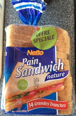 Pain Sandwich Nature (Offre Spéciale) - Produit - fr