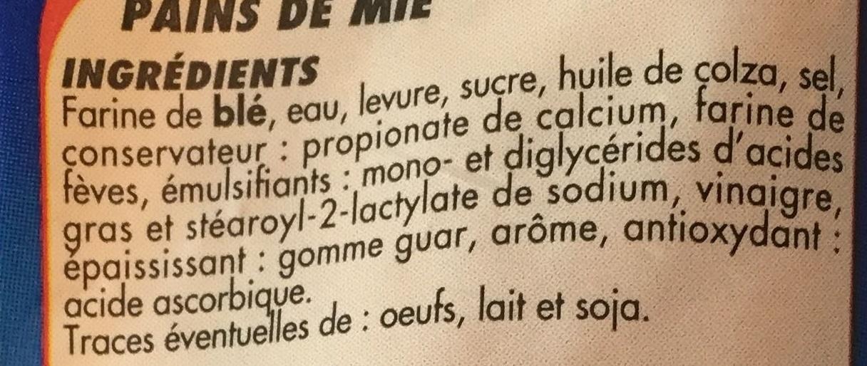 Pain Sandwich Nature (Offre Spéciale) - Ingrédients - fr