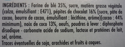 Cookies Coco Pepit' - Ingredients - fr