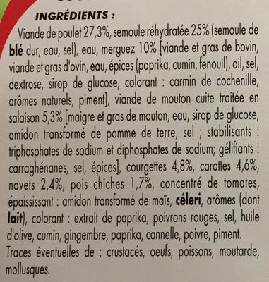 Couscous - Ingredients - fr