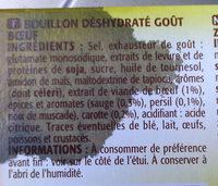 Le Bouillon De Bœuf, Le Paquet De - Ingrediënten - fr