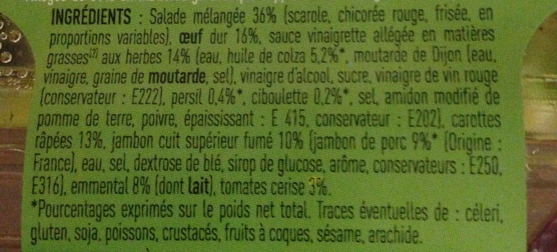 Salade Jambon Crudités - Ingrediënten
