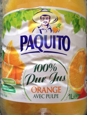 100% Pur Jus Orange avec Pulpe - Produit