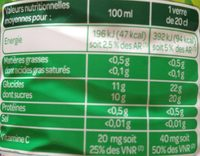 100% Pur Jus Orange avec Pulpe - Nutrition facts