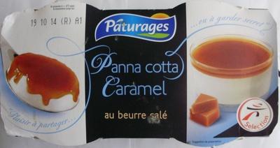Panna cotta Caramel au beurre salé (2 pots) - Produit - fr