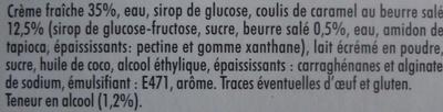 Panna cotta Caramel au beurre salé (2 pots) - Ingrédients