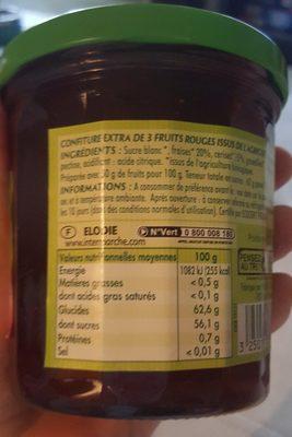 Confiture 3 fruits rouges - Ingrediënten