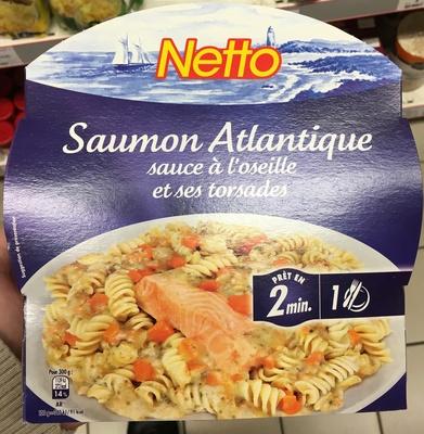 Saumon Atlantique sauce à l'oseille et ses torsades - Produit