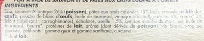 Saumon Atlantique sauce à l'oseille et ses torsades - Ingrédients