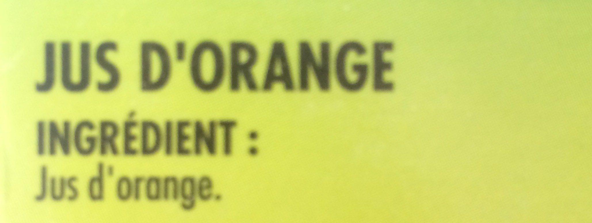 Jus d'orange pressée du Brésil - Ingredients - fr