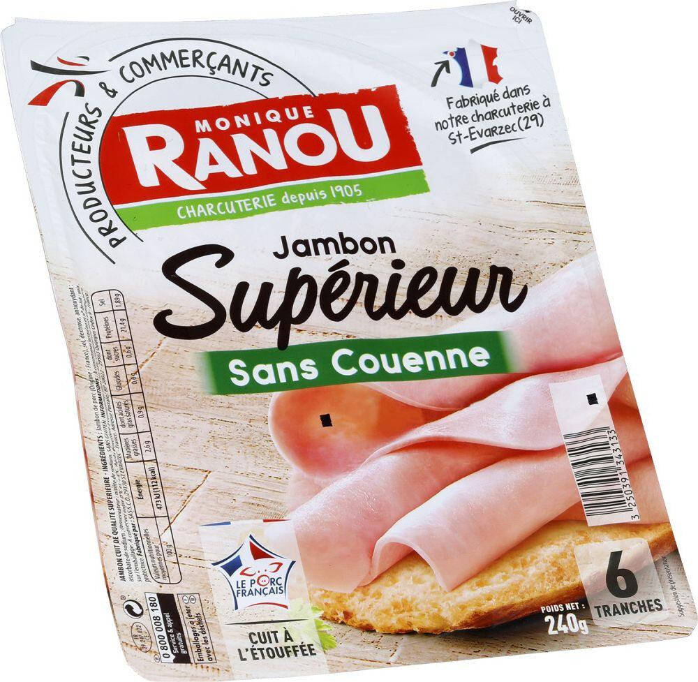 Mon gourmand, jambon découenné dégraissé - Produit - fr