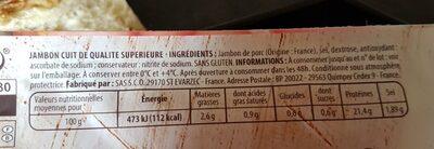 Mon gourmand, jambon découenné dégraissé - Ingrédients - fr
