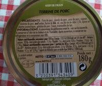 Netto Terrine Eau Vie Cidre - Informations nutritionnelles - fr