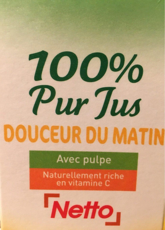 100% Pur Jus Douceur du matin avec pulpe naturellement riche en vitamine C - Product