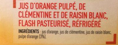 100% Pur Jus Douceur du matin avec pulpe naturellement riche en vitamine C - Ingredients