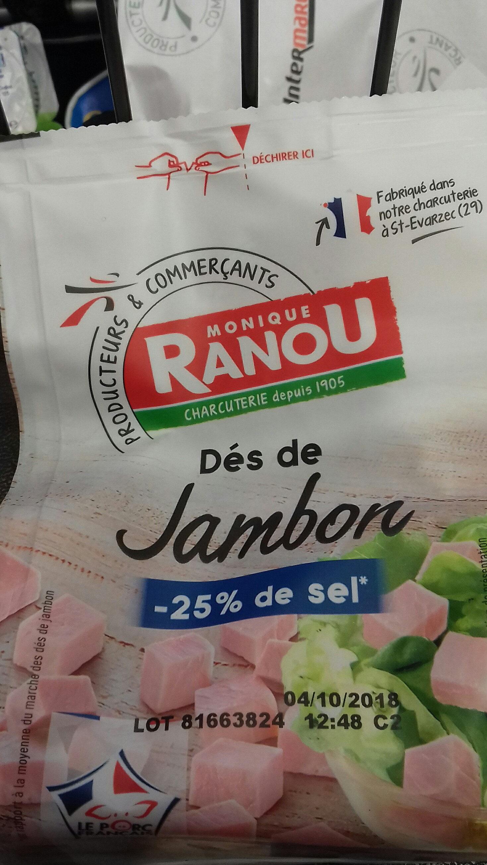 Petits Cubes Jambon - Product - fr