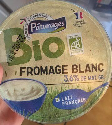 Fromage blanc 3,6% de Matière Grasse BIO Pâturages - Produit - fr