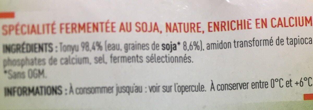 Spécialité au soja nature source de protéines végétales - Ingredients