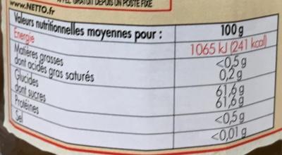 Marmelade d'Oranges - Informations nutritionnelles - fr