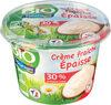 Crème fraîche épaisse 30% mat gr entière BIO - Prodotto