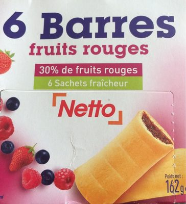 Barres fruits rouges - Produit - fr