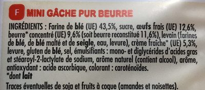 8 mini gaches pur beurre - Ingredients