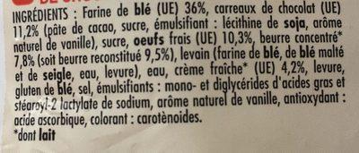 8 Mini gâches pur beurre aux carreaux de chocolat Belge - Ingrédients