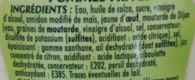 Sauce Frites - Ingrédients