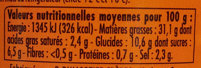 Sauce Frites - Nutrition facts - fr