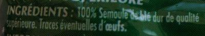 Capellini - Ingrédients - fr