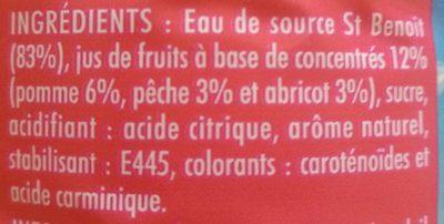 Boisson Pêche abricot - Ingrédients - fr