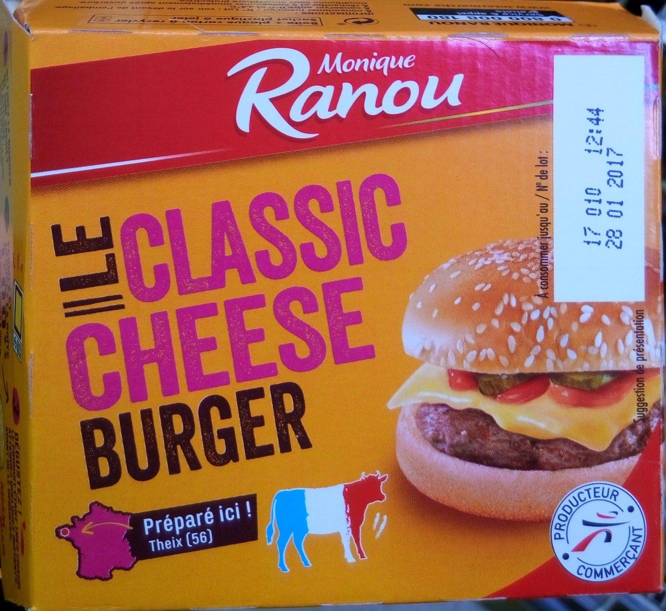 Le classic cheese burger - Produit - fr