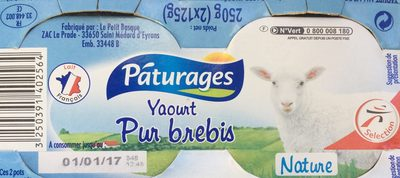 Yaourt pur brebis - Product