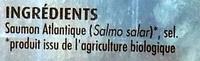 Saumon Atlantique fumé bio - Ingrediënten