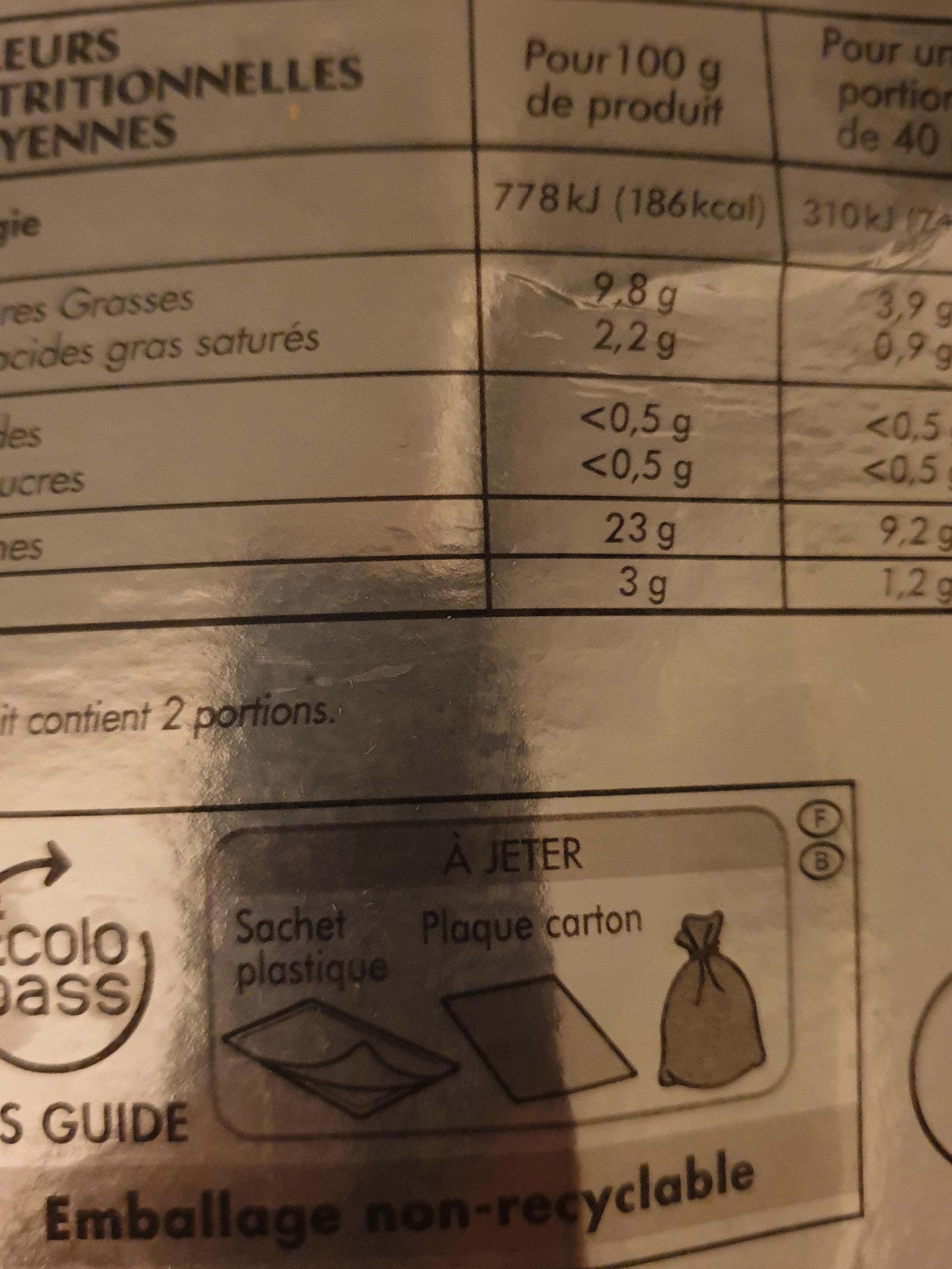 Saumon Atlantique fumé bio - Voedingswaarden