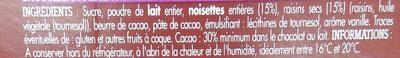 Lait Raisins & Noisettes Producteurs & commerçants - Ingrediënten - fr