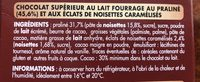 Ivoria Lait Praliné - Ingredients - fr