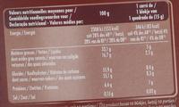 Ivoria Lait Praliné - Nutrition facts - fr
