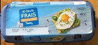 10 œufs frais - calibre moyen - Produit