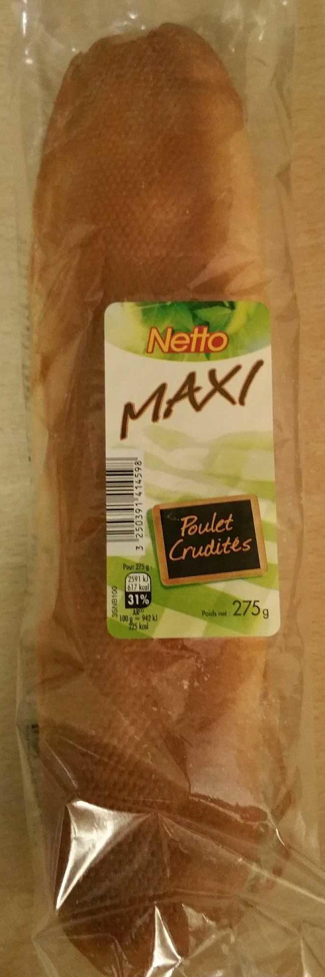 Maxi Poulet crudités - Produit - fr