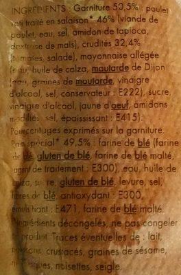 Maxi Poulet crudités - Ingrédients
