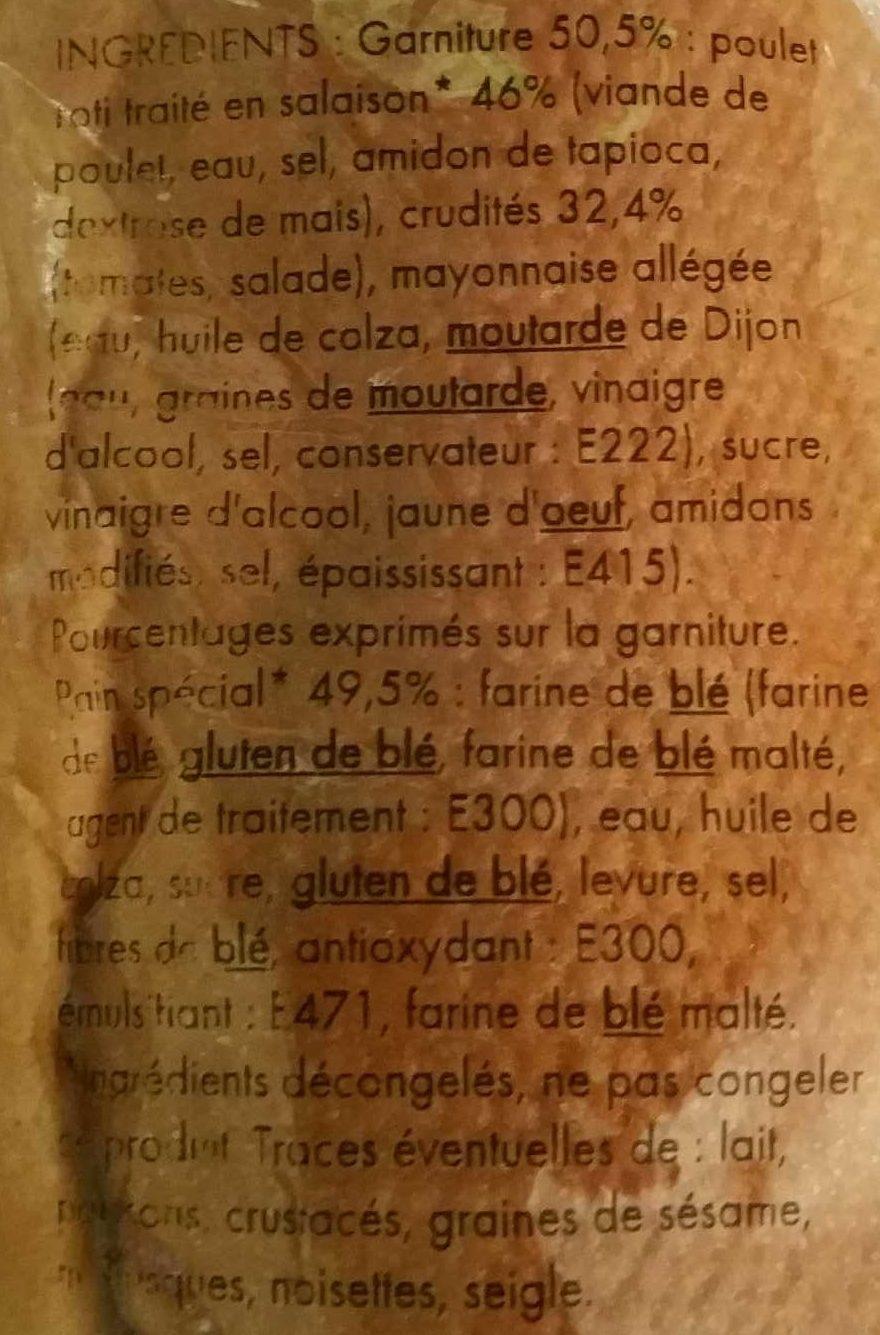 Maxi Poulet crudités - Ingrédients - fr